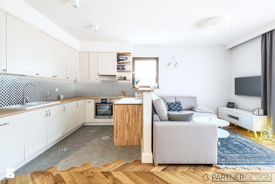 Mieszkanie Skandynawskie Pod Klucz Mały Salon Z Kuchnią Zdjęcie