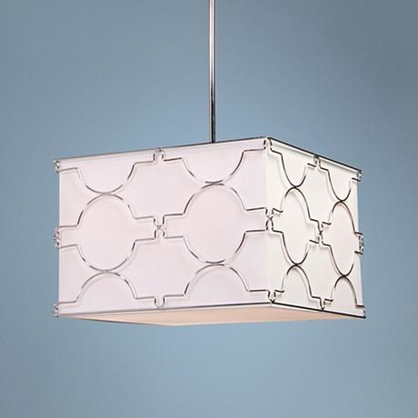 "$393 Artcraft Morocco 16"" Wide Chrome Pendant Light"