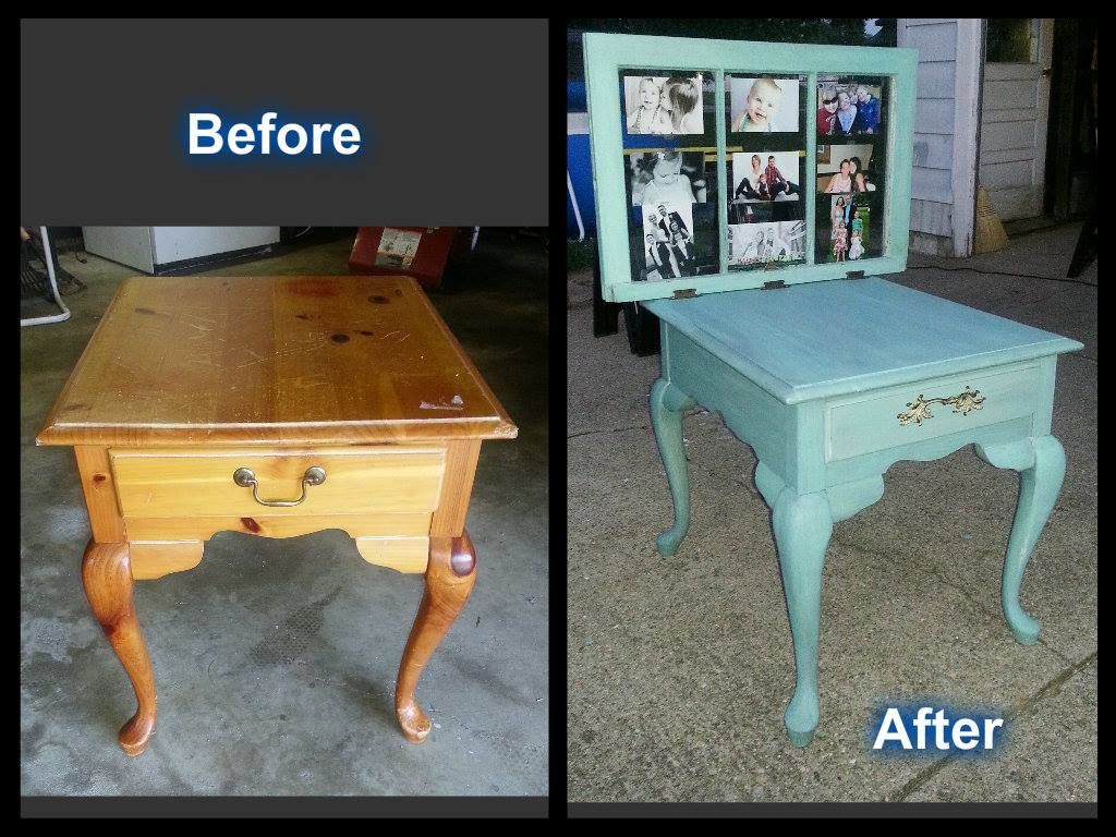 Wonderful Upcycled End Table