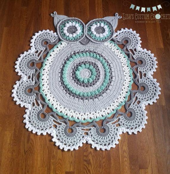 Owl rug | Teppiche, Eule und Teppich häkeln