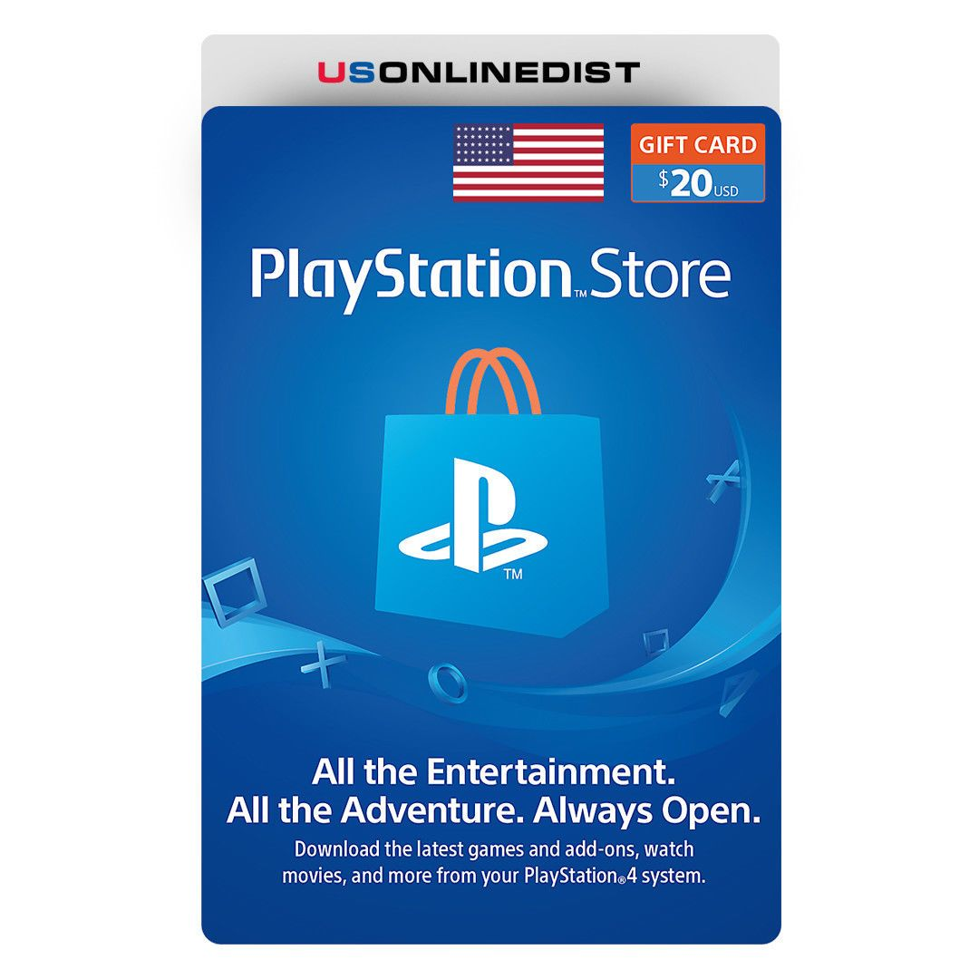 Sony Playstation Network 20 Usd Card Psn 20 Dollar Ps4 Ps3 Psp Usa Only Playstation Store Gift Cards Sony Playstation