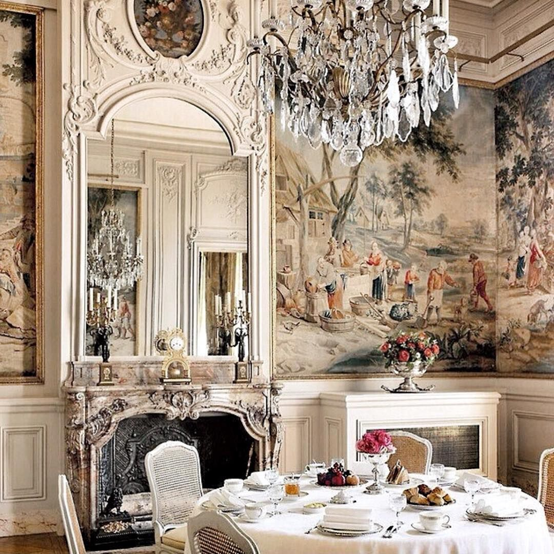 Dining Room Fireplace Ideas For Romantic Winter Nights: French Interior Design, French Interior