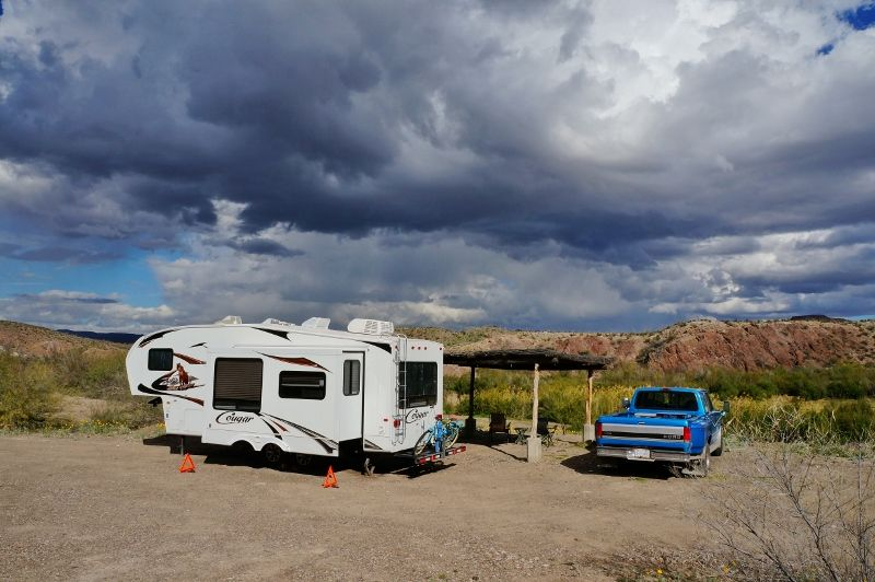Rving Big Bend Ranch State Park In Texas Campsite Rv