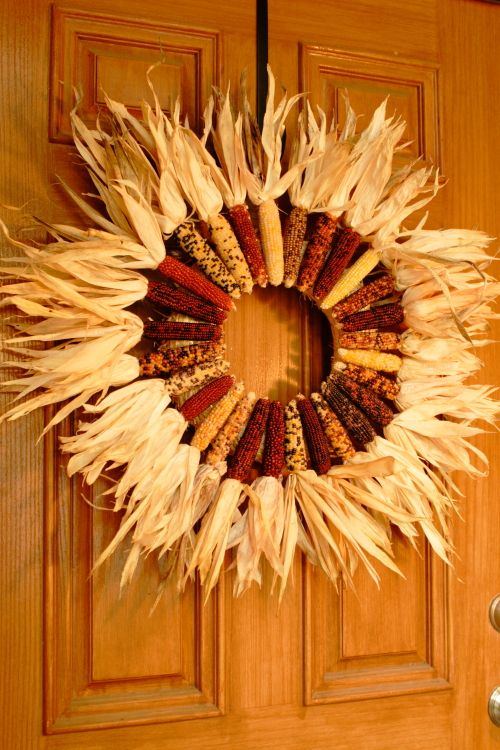 cutest indian corn wreath