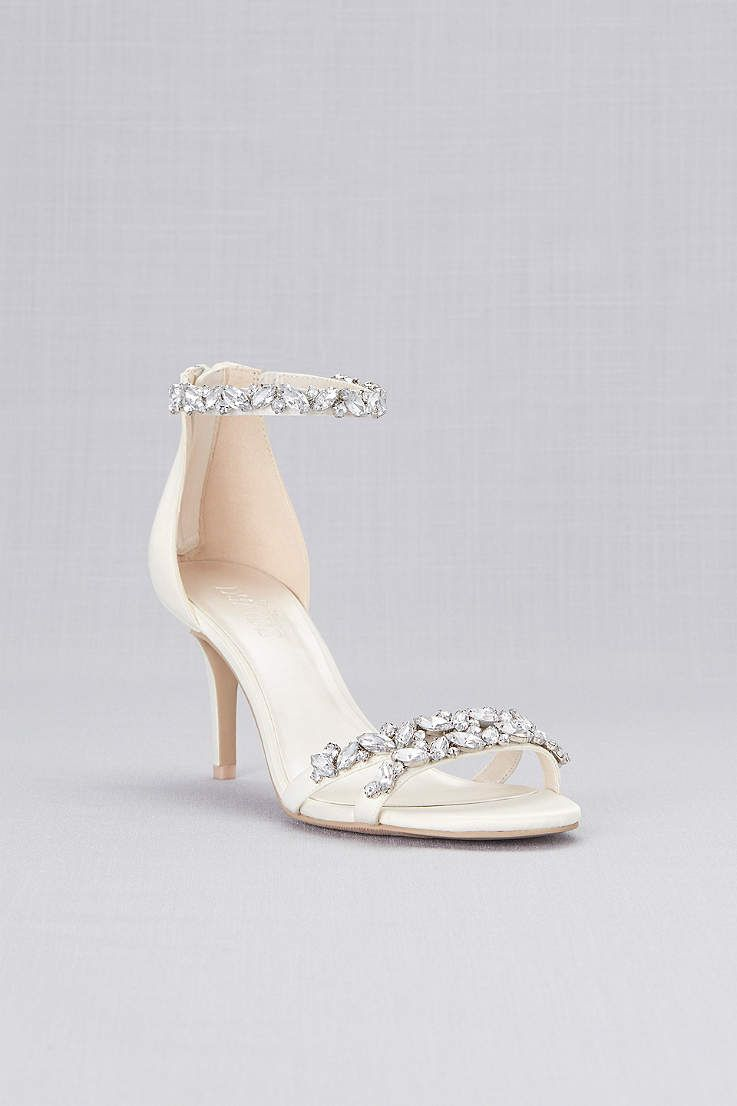 b1bc51c76fe View Jeweled Satin Ankle Strap Heels ARDEN