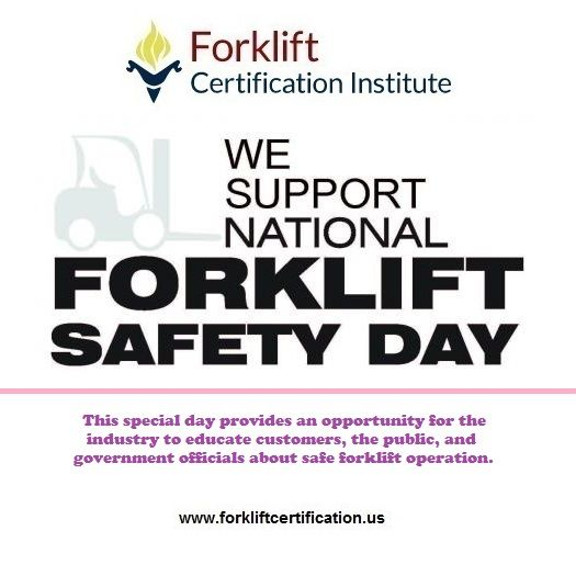 Did you know about National Forklift Safety Day? #forklift - best of free forklift training certificate template