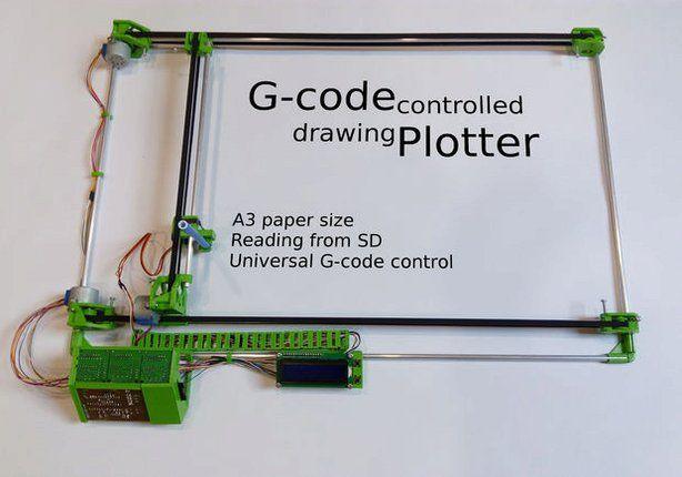 Drawing Plotter Drawing machine, 3d printer, Cnc software