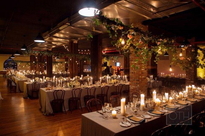 wedding installationhanging centerpiece liberty warehouse wedding christian oth studios