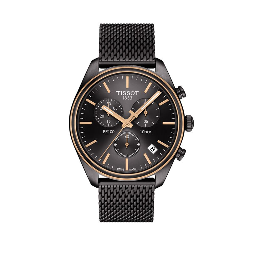 T101.417.23.061.00 Ανδρικό quartz ρολόι TISSOT μοντέλο PR 100 χρονογράφος 33f4ff37e07