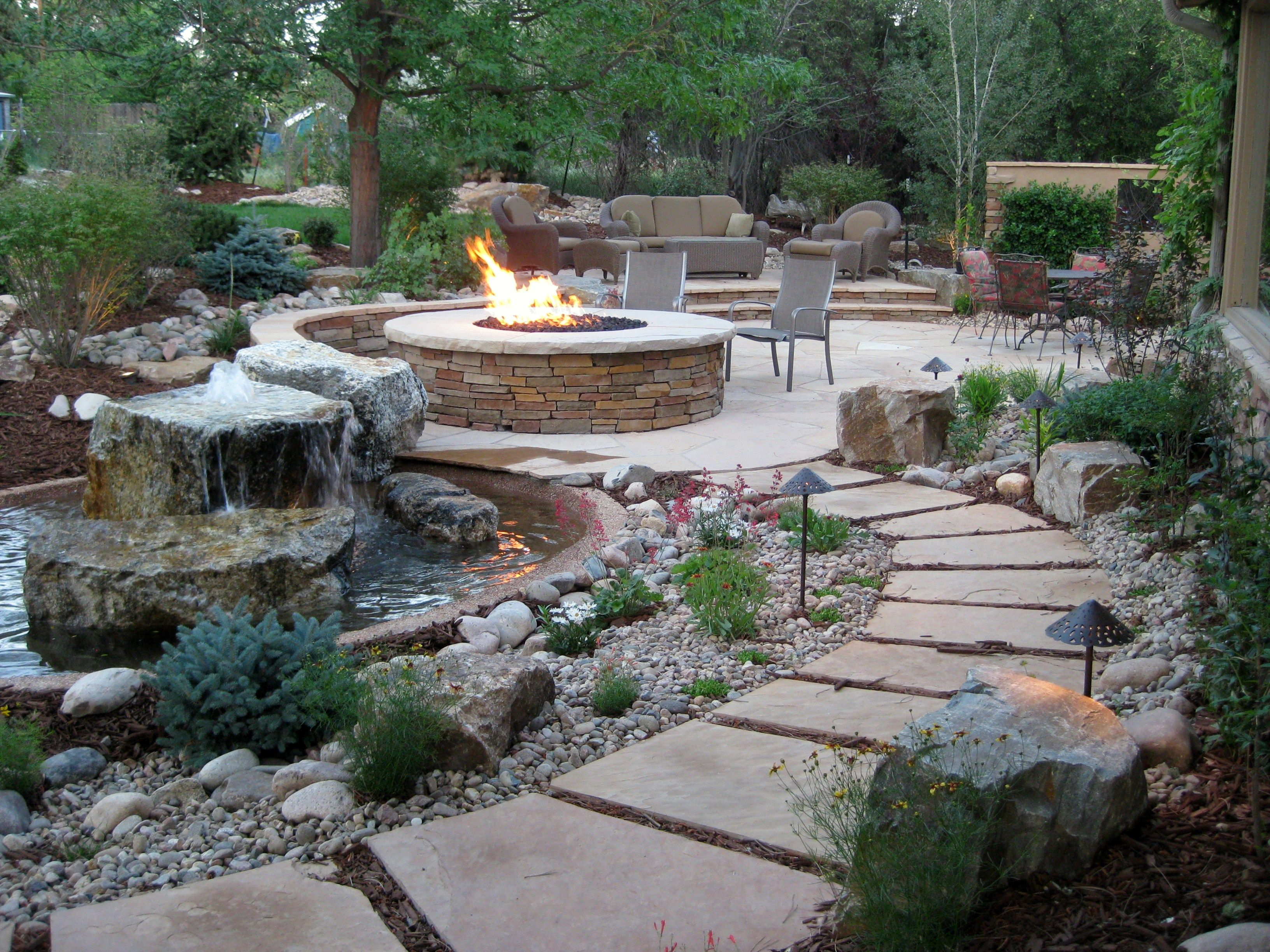 Google image result for for Backyard water feature plans