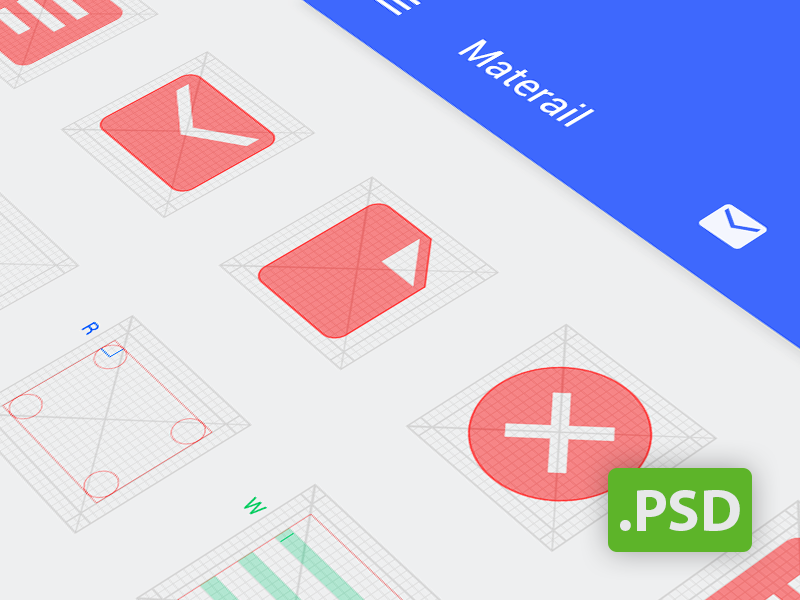 Android Grid Psd (Template for Android L icon) | Psd templates ...
