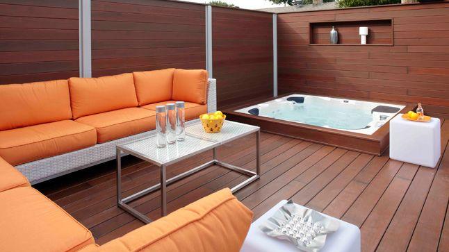 Inspirations déco Les spas Spa, Jacuzzi and Outdoor spaces