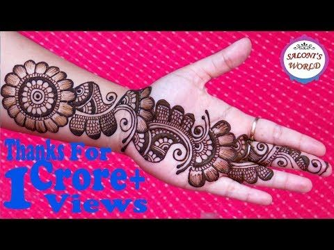 a99fb8d5750 Simple Arabic Henna Mehndi Designs