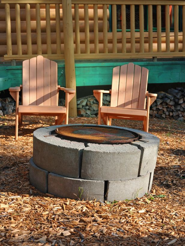 Instructions for building this DIY fire pit. Cinder Block ... on Cinder Block Fireplace Diy  id=63329