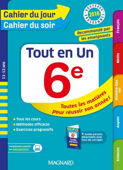 Cahier Du Jour Cahier Du Soir Tout En Un 6e Nouveaux Programmes 2016 Telechargement Nouveaux Programmes