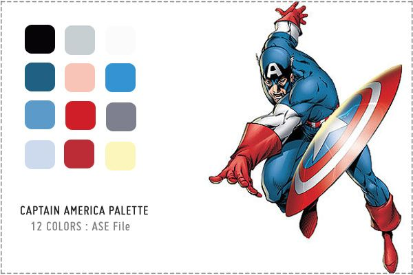 8 superhero color palettes captain america color palette color