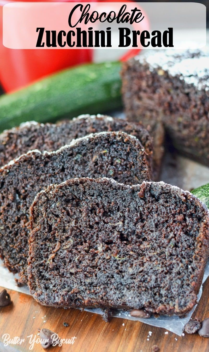 This Chocolate Zucchini Bread Recipe Is Rich And Moist Made With Cocoa And Chocolate Chips Througho Chocolate Zucchini Bread Chocolate Zucchini Zucchini Bread