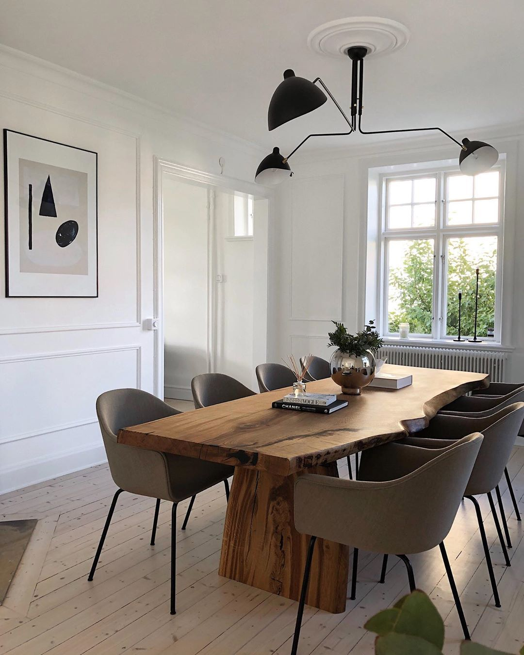 Kristin Rödin On Instagram Sponsored Our Dream Wood Table Has Arrived Made By The Talented Backstromwoodw Dining Room Design Home Living Dining Room