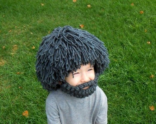 Fun Wig Afro hair Crochet Beanie Mustache Mask Face Knit Hat madman Cap  child  unbranded  Beanie ffac11fa006