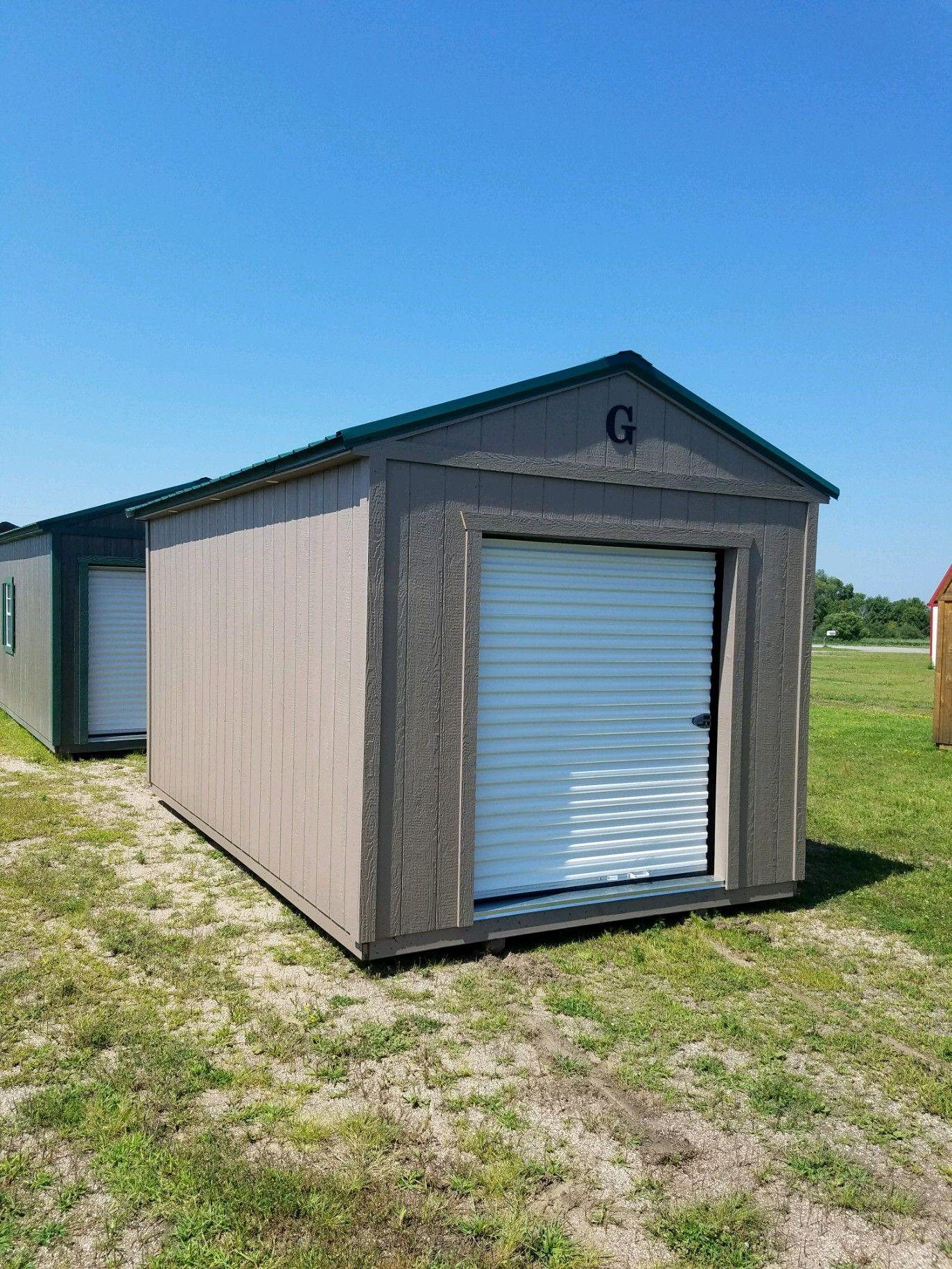 Best Grandview Buildings 10X16 Utility Green Metal Roof Lp 400 x 300