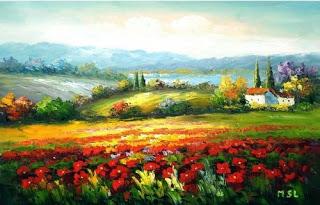 لوحات فنية زيتية بسيطة من اجمل خلفيات شاشه غاية في الجمال Oil Art Paintings Abstract Painting Expressionist Landscape Abstract Landscape