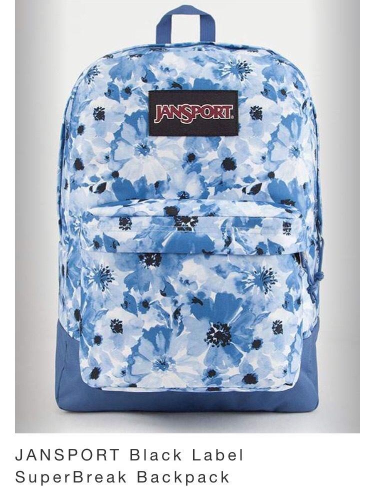 Jansport Tillys Blue Flower Backpack 35 99 Jansport Superbreak