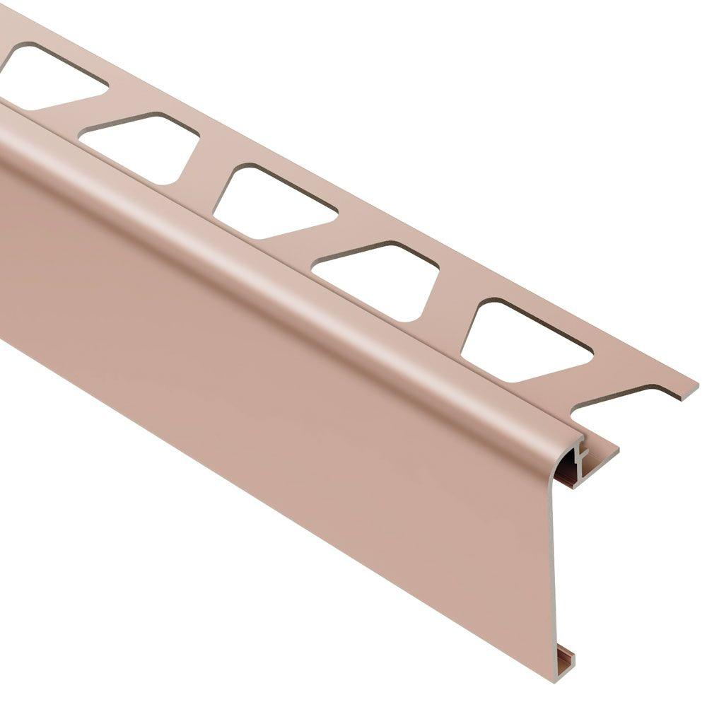 Schluter Rondec Step Satin Copper Anodized Aluminum 3 8 In X 8 Ft