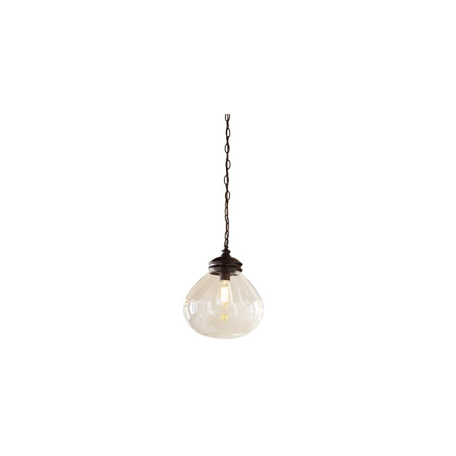 Lowes Pendant Lighting Amusing Shop Allen  Roth 12In W Bronze Edison Pendant Light With Clear Design Ideas