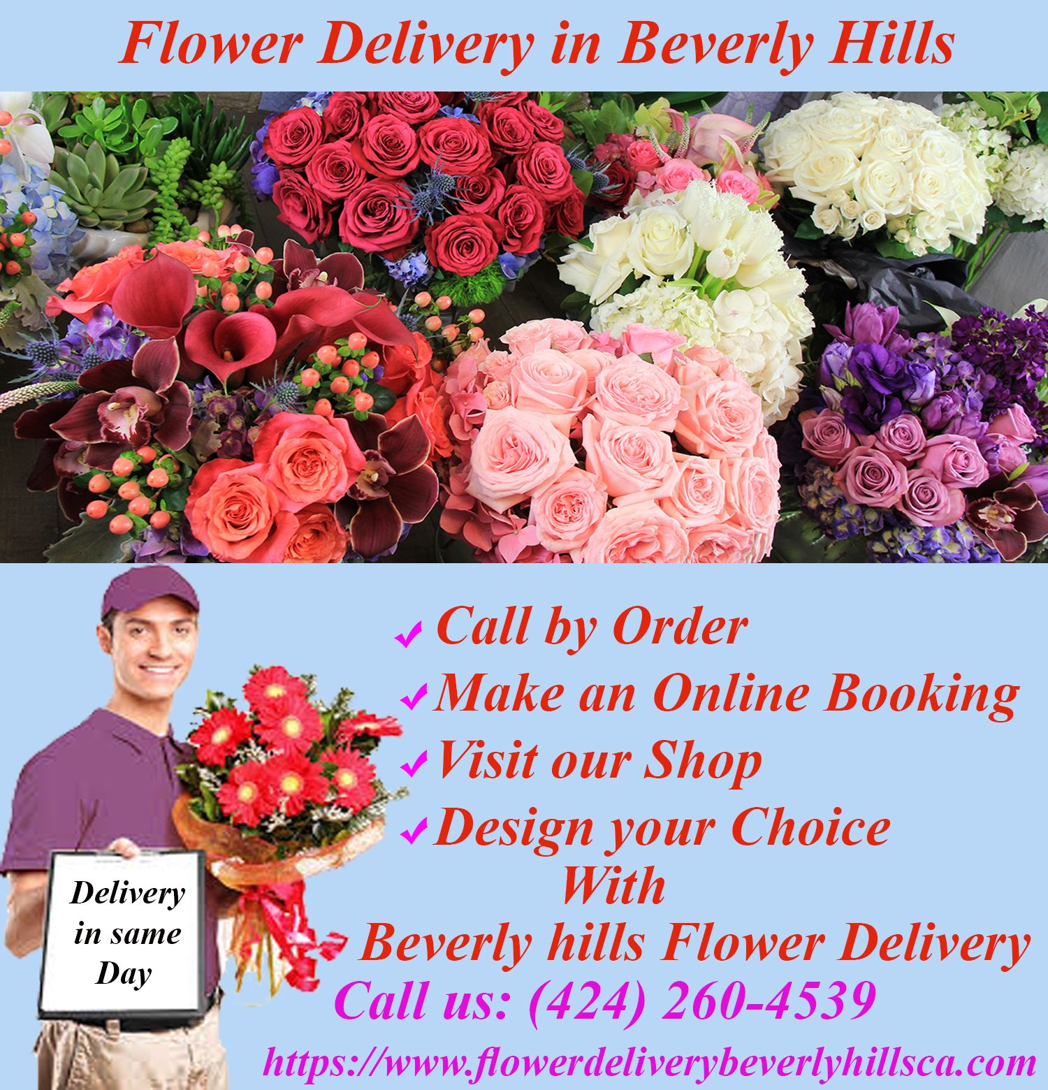 Flower Delivery Beverly Hills Ca Area Gives Best Prices