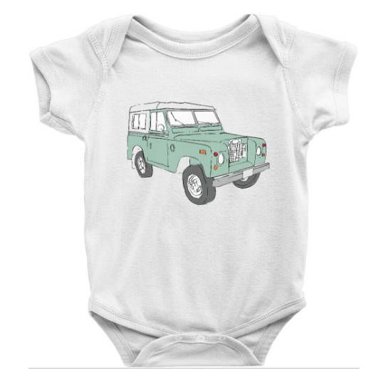 Infant Land Rover Clothing Vintage Land Rover Onesie Baby Land Rover Gift By Southerncoordinates On Etsy Clothes Baby Onsies Vintage Outfits