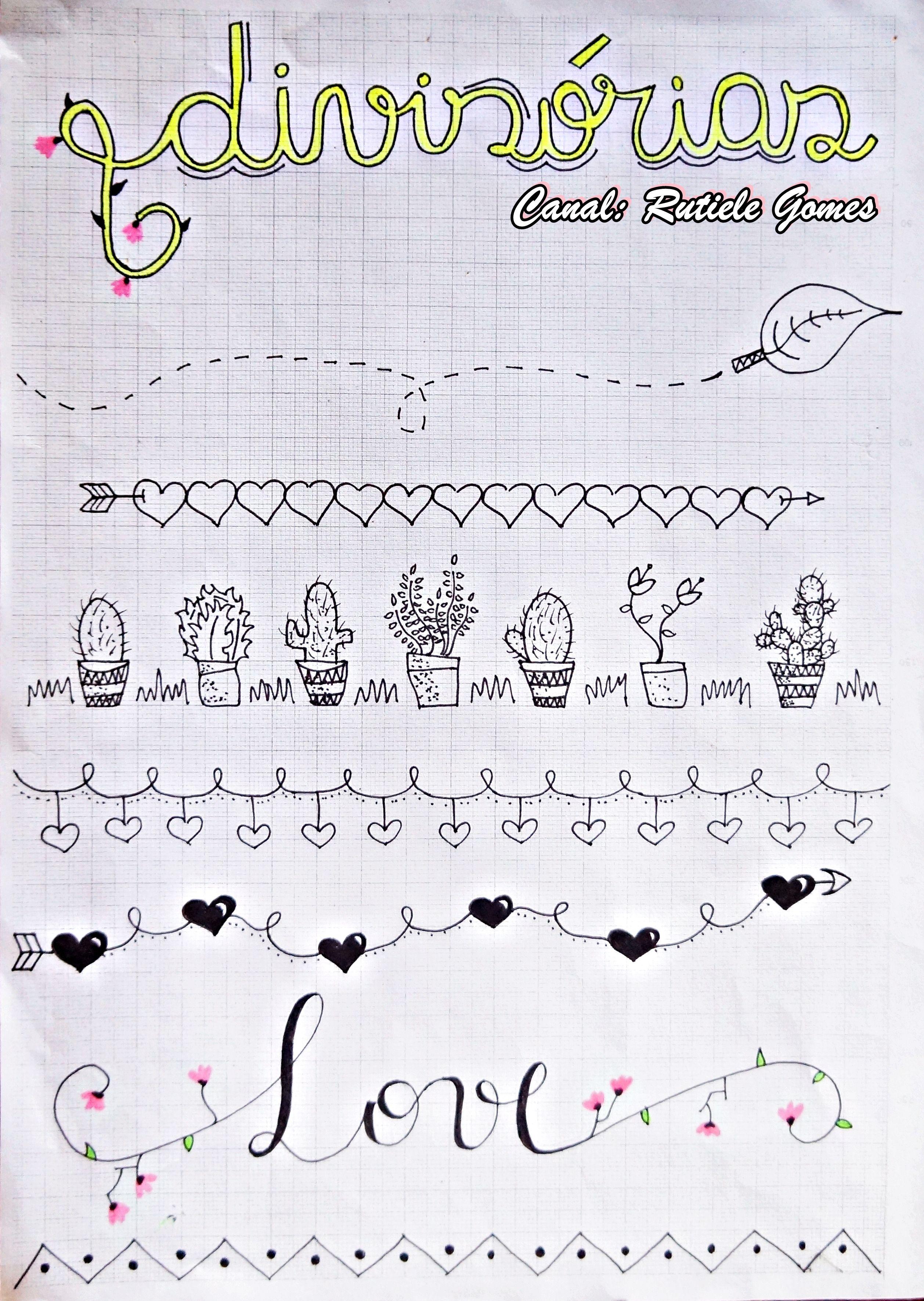 Margenes Para Decorar Cuadernos Ideias Para Cadernos Inspiracao Bullet Journal Caderno