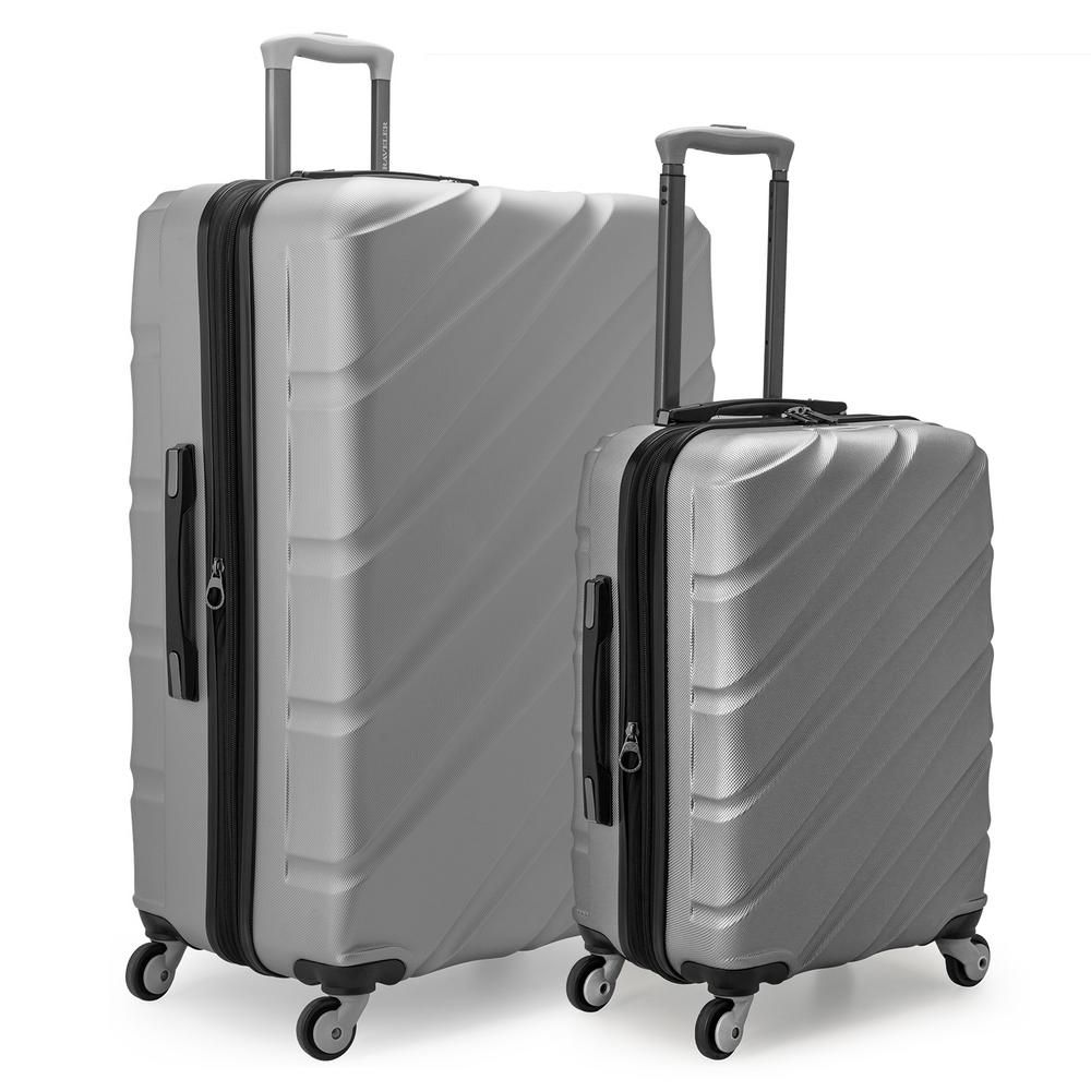 53c97b37b201 Gilmore 2-Piece Silver Expandable Hardside 4-Wheel Spinner Luggage ...
