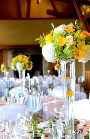 Yellow Reception Wedding Flowers Wedding Decor Yellow Wedding