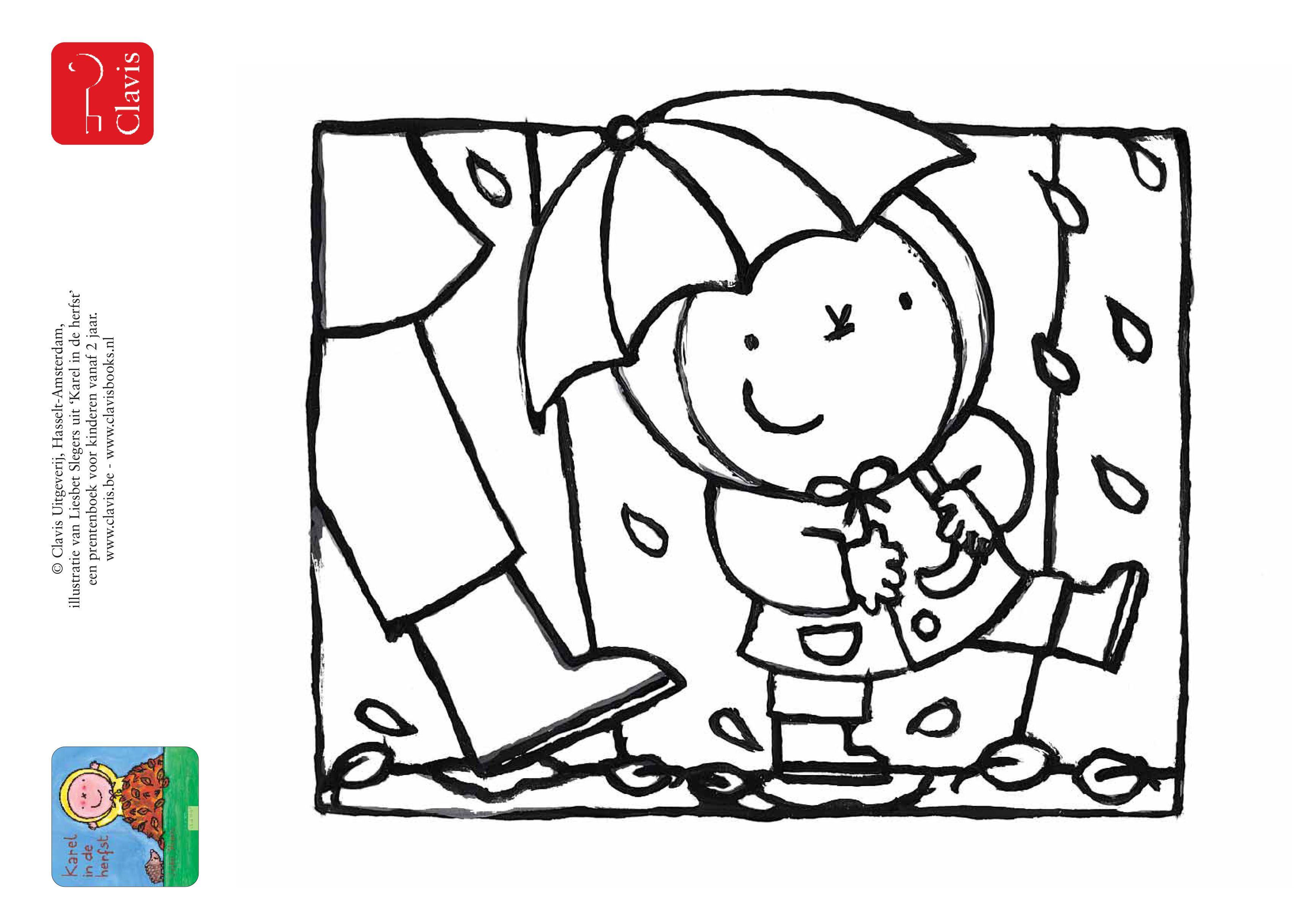 Ik Ben Karel Vandaag Ga Ik De Tuin En Het Bos In In De Herfst Is Daar Van Alles Te Zien Mooie Blaadjes Paddestoelen Kastanjes Herfst Thema Regen Knutselen