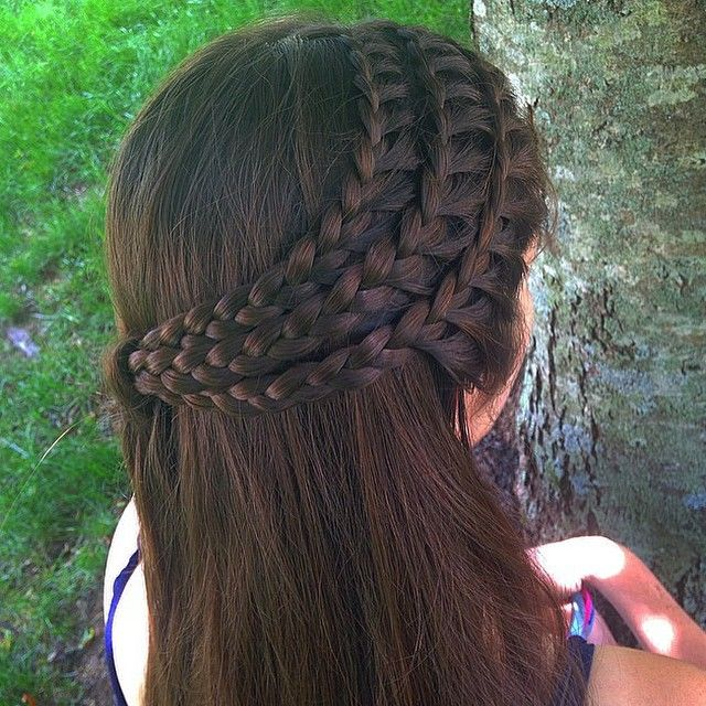 "App To Try Hairstyles: ""Triple Lace Braids @braidsbygabby "" Photo Taken By @braid"