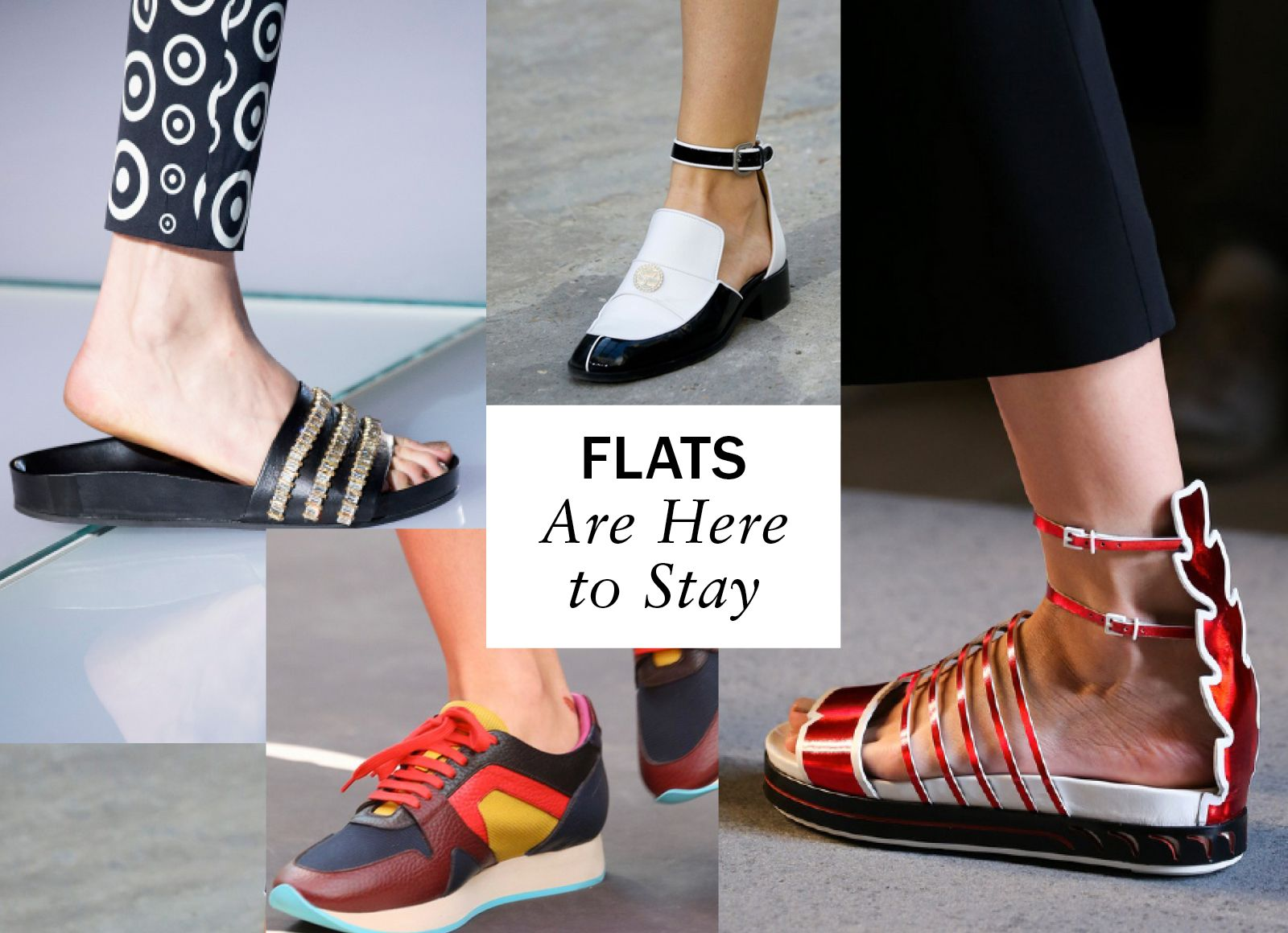 Fashion has been coming off vertiginous heels for a while now, but this season the message was loud and clear: Flats for every possible occasion are here to stay. -