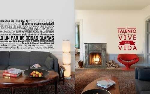 Talento frases para decorar paredes pinterest for Vinilos frases habitacion
