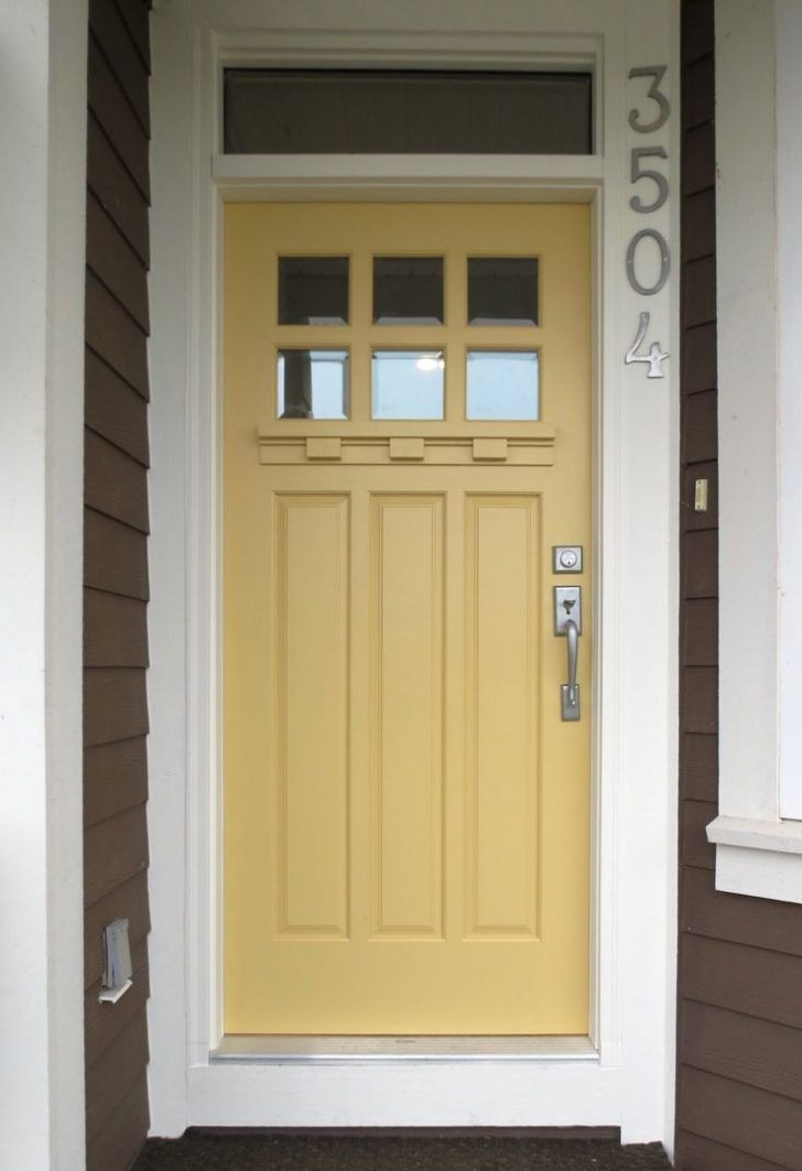 Kids ideas great front door color 55 front door color for - Gray house yellow door ...