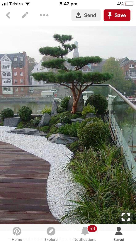 balcony decor Terrasse jardin, Jardin japonais