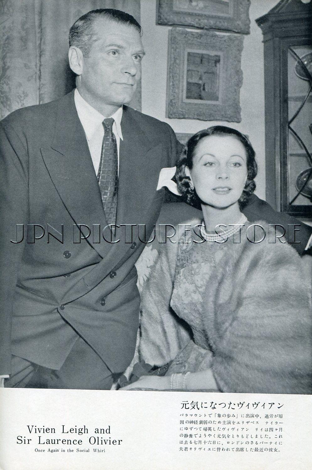 Vivien Leigh Laurence Olivier Kirk Douglas 1953 JPN Picture clipping 7x10 DD P | eBay