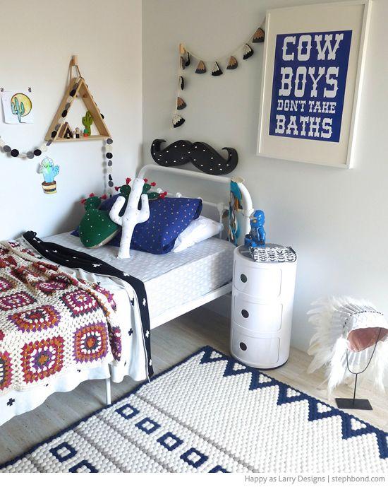 Western Cowboy Themed Bedroom Kids Ideas