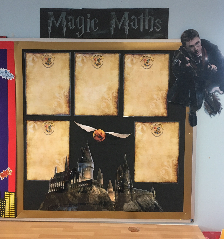 Harry Potter themed Classroom Display - Magic Maths - Celebration of ...