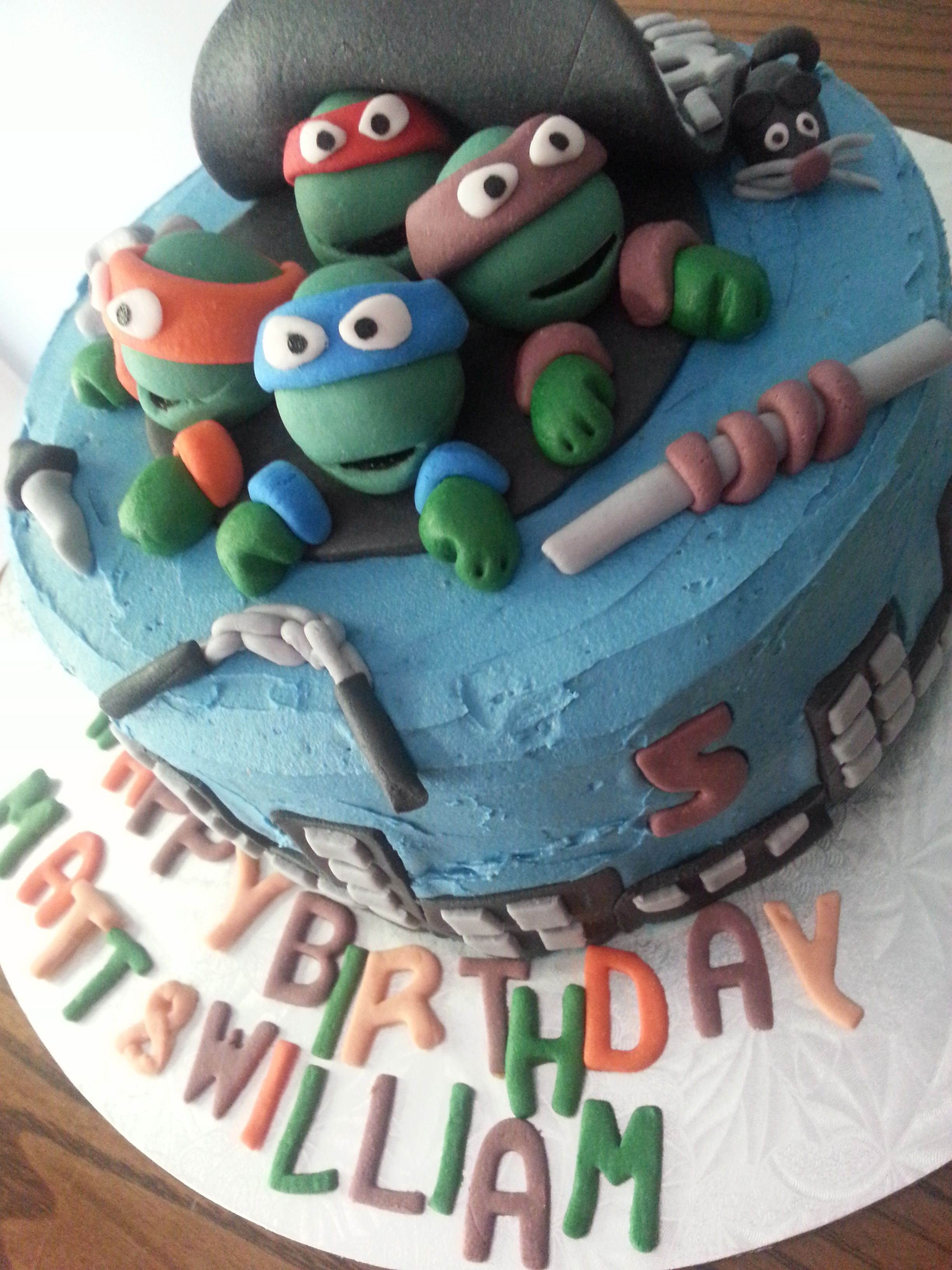 Teenage Mutant Ninja Turtle birthday cake TMNT cake Kids Birthday