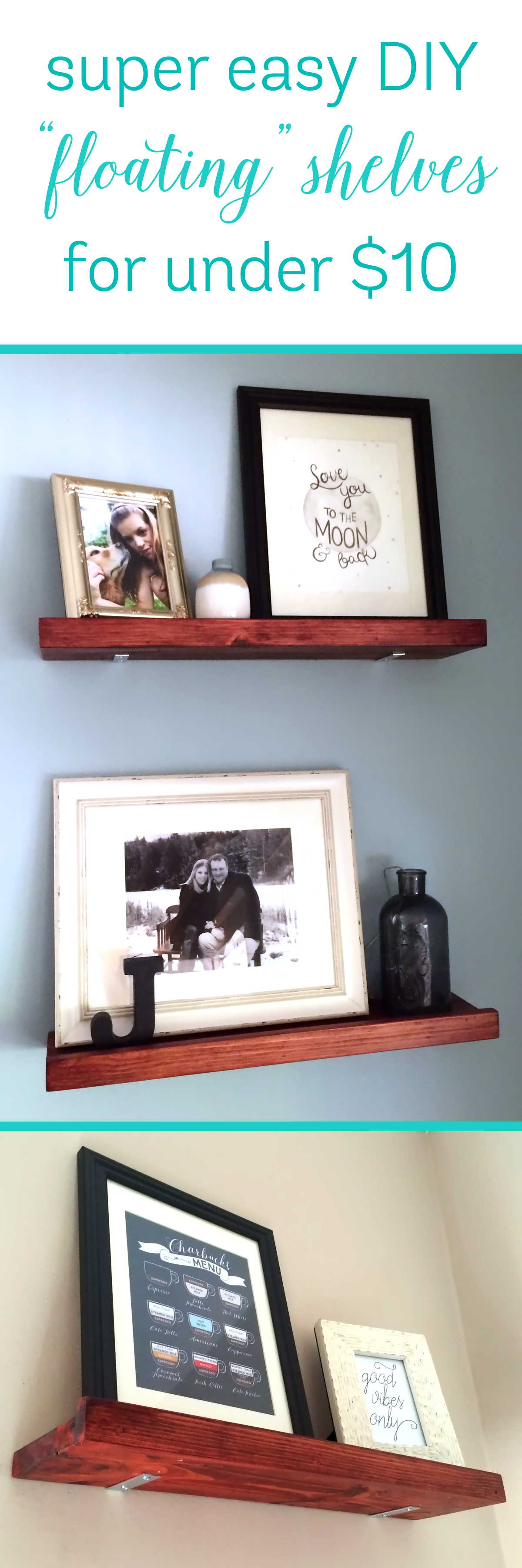 DIY Faux Floating Shelves for Under 10 a Shelf! Riss