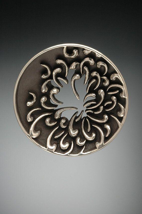 Colgante de plata esterlina crisantemo