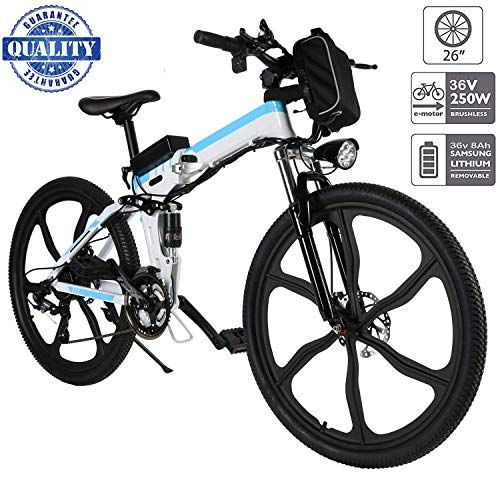 Fiugsed 26 Electric Mountain Bike With Removable Large Capacity