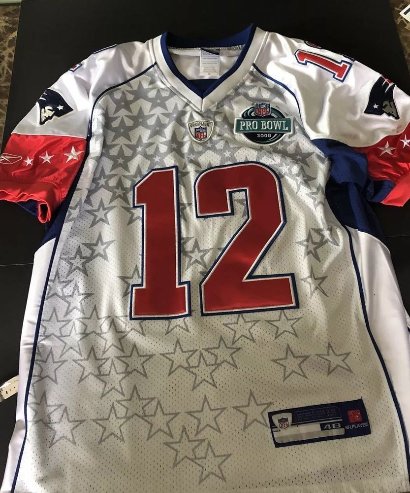 cd43adaa5089  12 TOM BRADY AUTHENTIC 2008 PRO BOWL JERSEY(SIZE 48 LARGE) MINT CONDITION