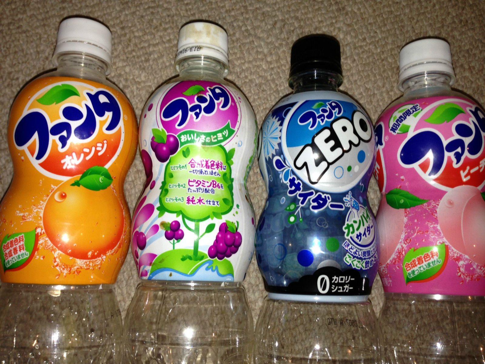 Fanta Camerette ~ Japan fanta pet bottle x5 2010 2012 zero cider peach grape orange