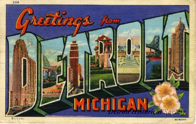1942 postcard greetings from detroit michigan from the detroit 1942 postcard greetings from detroit michigan from the detroit historical society m4hsunfo Images