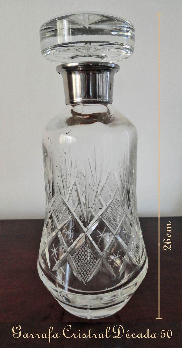 Resultado de imagem para decada 50 garrafa de cristal com whisky